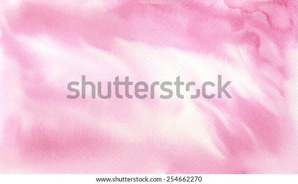 Hand-painted watercolor background texture in pink and white.