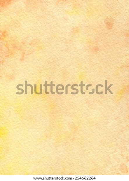 Hand-painted watercolor background texture in tones of orange and yellow.