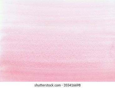 Hand-painted watercolor background wash. Abstract Pink watercolour texture. Pearlescent, rose gradient. Hand drawn ombre red texture.