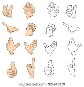 Hands cartoon