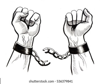 Hands and chains