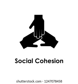 hands, friendship, social cohesion icon. Element of business icon for mobile concept and web apps. Detailed hands, friendship, social cohesion icon can be used for web and mobile