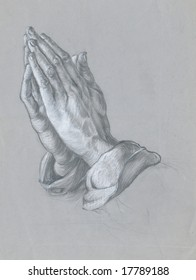 the hands, personal copy of Albrecht Durer draw, hand made