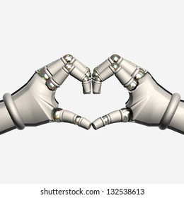 Hands Robot Heart