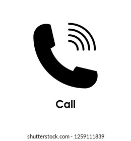 handset, signal, call icon. One of business collection icons for websites, web design, mobile app