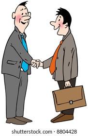 handshake businessmen, welcome