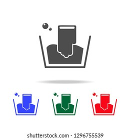 handwash icon. Elements of washing in multi colored icons. Premium quality graphic design icon. Simple icon for websites, web design, mobile app