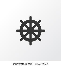 Handwheel icon symbol. Premium quality isolated helm element in trendy style.