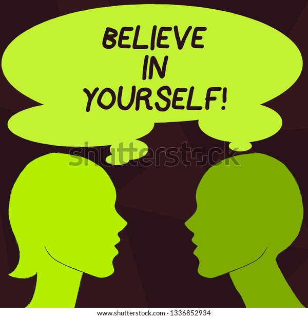 Handwriting Text Believe Yourself Concept Meaning Stock Illustration