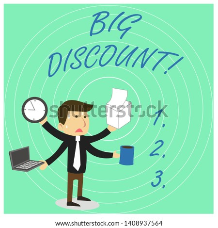 Handwriting Text Big Discount Concept Meaning | Royalty-Free