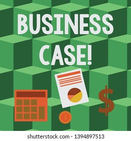 Handwriting text Business Case. Concept meaning provides justification for undertaking a project or program Computing Dollar Investment in Gold and Presenting Data thru Pie Chart Graph.