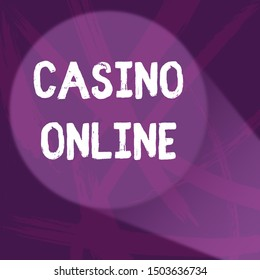 Handwriting text Casino Online. Concept meaning Computer Poker Game Gamble Royal Bet Lotto High Stakes Abstract Violet Monochrome of Disarray Smudge and Splash of Paint Pattern.