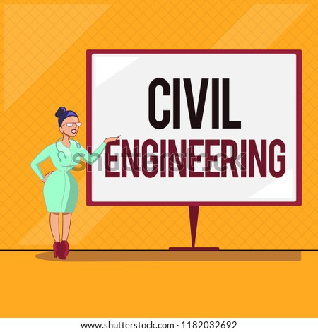 Handwriting Text Civil Engineering Concept Meaning Stock