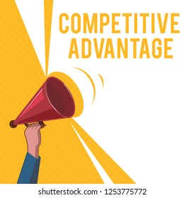 Handwriting text Competitive Advantage. Concept meaning Company Edge over another Favorable Business Position