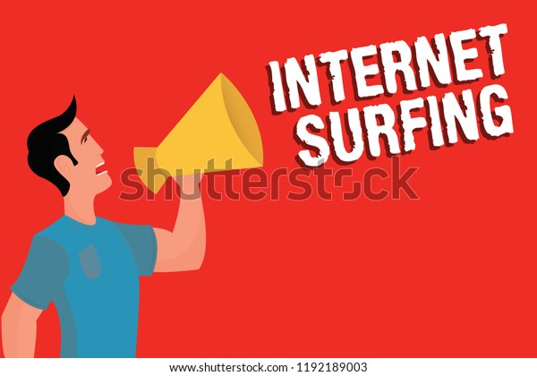 Handwriting Text Internet Surfing Concept Meaning Stock