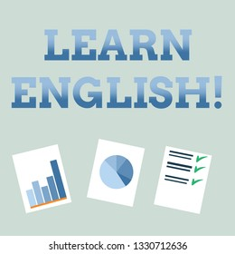 Handwriting text Learn English. Concept meaning Study another Language Learn Something Foreign Communication.