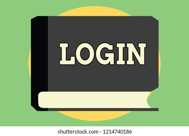 Handwriting text Login. Concept meaning Entering website Blog using username and password Registration