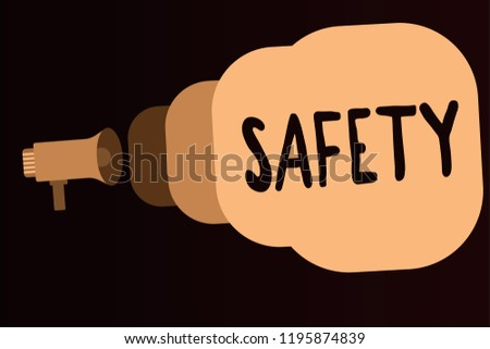 Handwriting Text Safety Concept Meaning Condition Stock Illustration