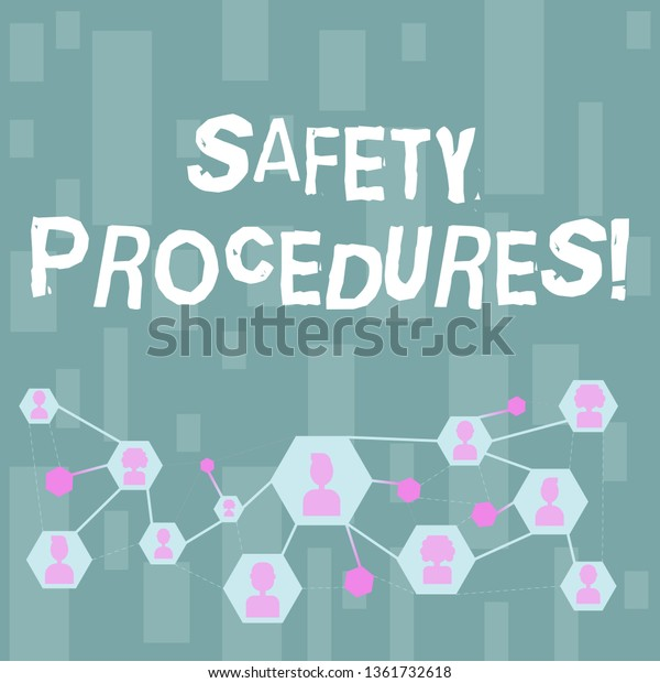 Handwriting Text Safety Procedures Concept Meaning Stock