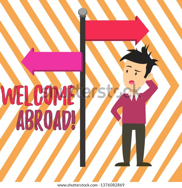 Handwriting Text Welcome Abroad Concept Meaning Stock Illustration