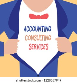 Handwriting text writing Accounting Consulting Services. Concept meaning Preparation ofPeriodic Financial Statements