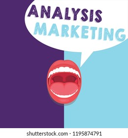 Handwriting text writing Analysis Marketing. Concept meaning Quantitative and qualitative assessment of a market