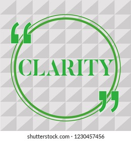 Handwriting text writing Clarity. Concept meaning Being coherent intelligible Understandable Clear ideas Precision
