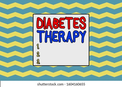 Handwriting text writing Diabetes Therapy. Concept meaning aim to achieve lower average blood glucose results Seamless wavy lines pattern. Abstract texture zigzag waving. Geometric.