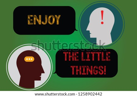 Handwriting Text Writing Enjoy Little Things Stock Illustration