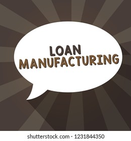 Handwriting text writing Loan Manufacturing. Concept