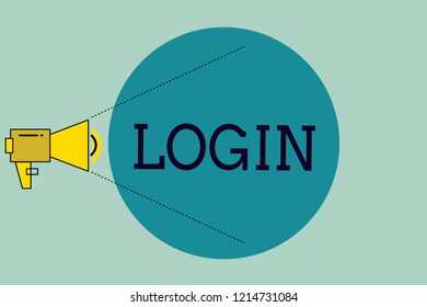 Handwriting text writing Login. Concept meaning Entering website Blog using username and password Registration