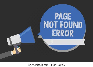 Handwriting text writing Page Not Found Error. Concept meaning message appears when search for website doesnt exist Multiline text script artwork make announcement declare messages idea.