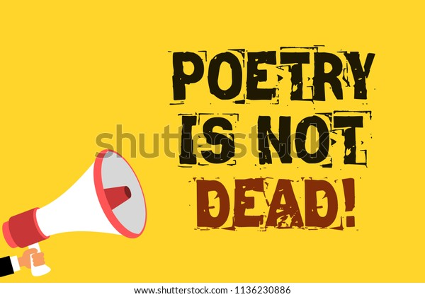 Handwriting Text Writing Poetry Not Dead Stock Illustration