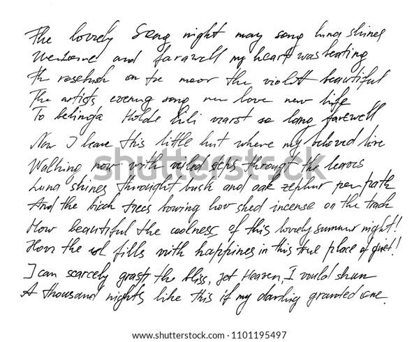 Handwritten Letter Handwriting Calligraphy Manuscript Font