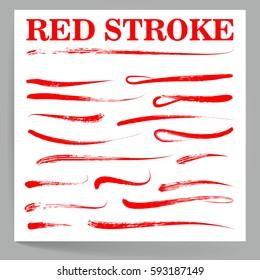 Handwritten Marker. Grunge Brush Design. Highlight, Swoosh, Swipe, Wave. Raster Illustration