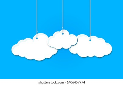 Hanging clouds in blue color