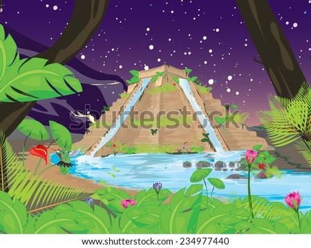 Hanging Gardens Babylon Landscape Stock Illustration 234977440 ...