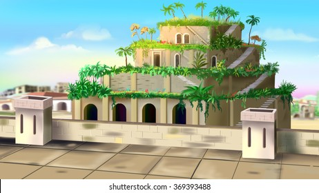 Hanging Gardens of Babylon - one of the wonders of the world.