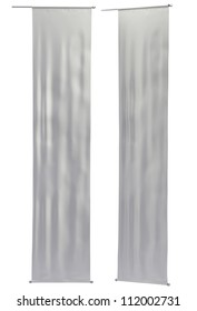 Hanging Street Banner. Neutral colors, clipping paths