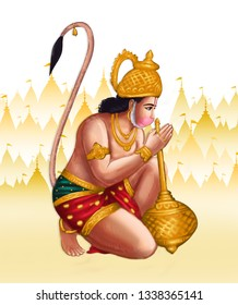 Hanuman was the one of the central character of Indian Epic Ramayana found in the Indian subcontinent. He seems to be a Monkey but workshiped as god.