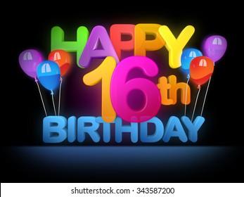 Happy 16th Birthday Title dark