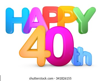 Happy 40th Title in big letters