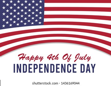 Happy 4th July, Independence Day USA, background illustration Stock Photo with USA flag,
