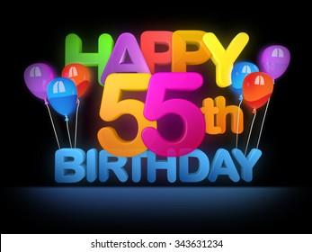 Happy 55th Title In Big Letters Dark