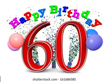 60th Birthday Images Stock Photos Vectors