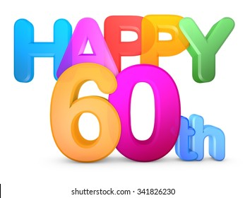 Happy 60th Title in big letters