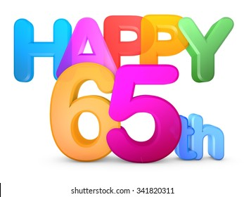 Happy 65th Title in big letters