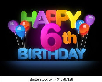 6th Birthday Images, Stock Photos & Vectors | Shutterstock
