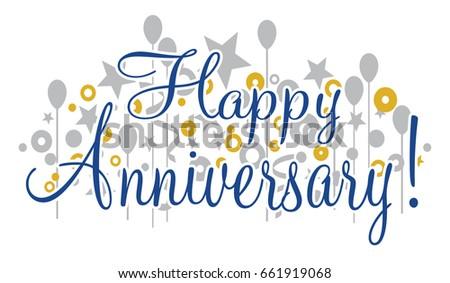 happy anniversary banner vector design that stock illustration
