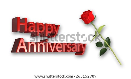 Happy anniversary greeting card red rose stock illustration happy anniversary greeting card with red rose on white background m4hsunfo